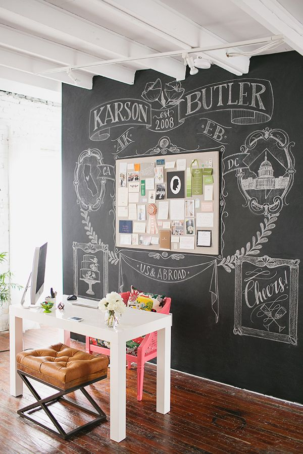 Karson butler events dc design studio chalkboard wall for Office design events