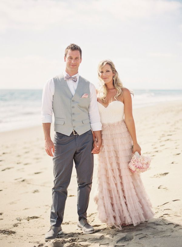 Blush Mint Coastal Beach Wedding Inspired By This - Blush Beach Wedding Dress