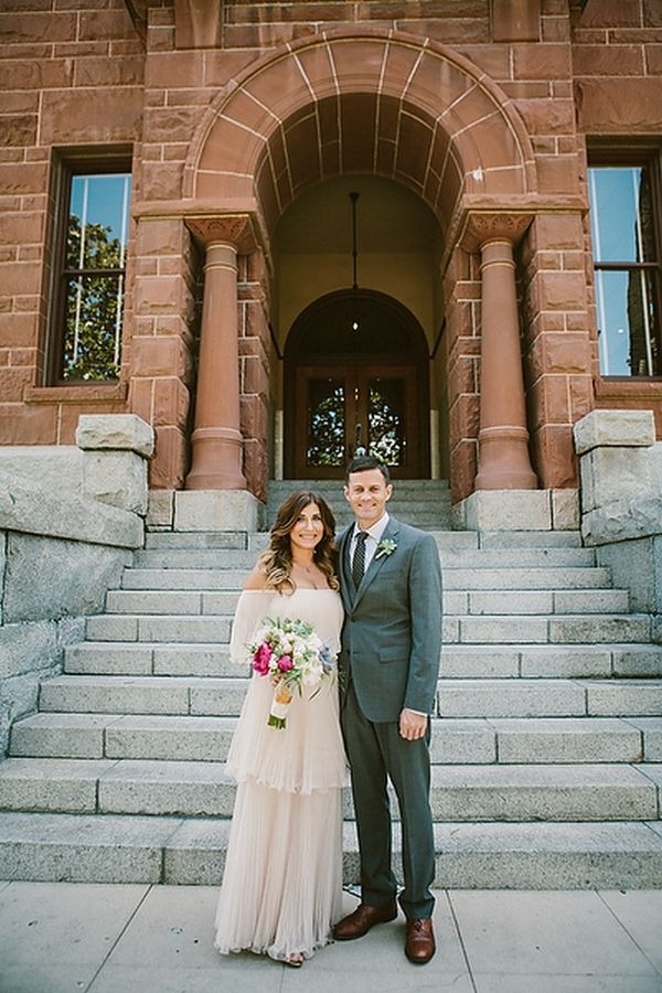 Intimate Courthouse Elopement Inspired By This