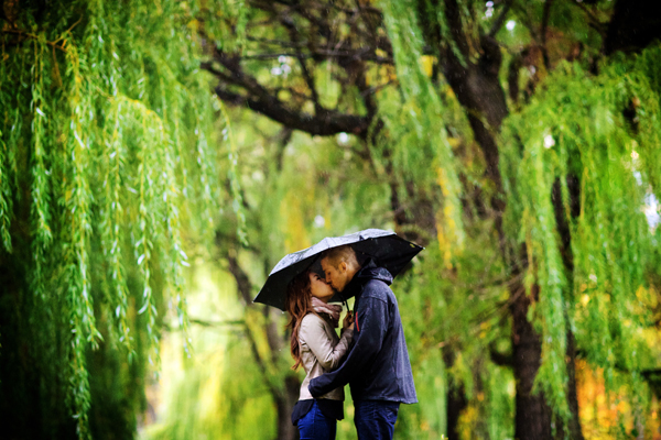 rainy engagement
