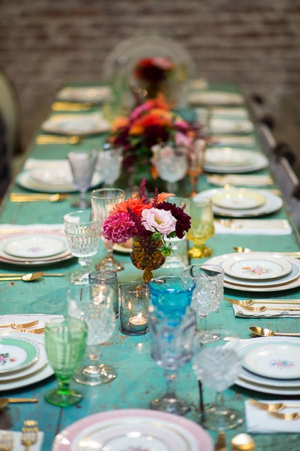 blog photo whimsical table setting from this baby shower source
