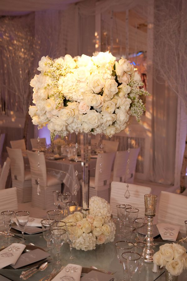 Silver and taupe wedding
