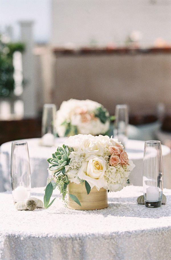 Blush mint coastal beach wedding inspired by this