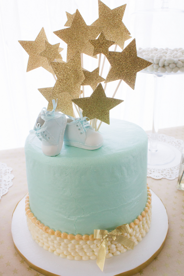 blue and gold baby shower inspired by this