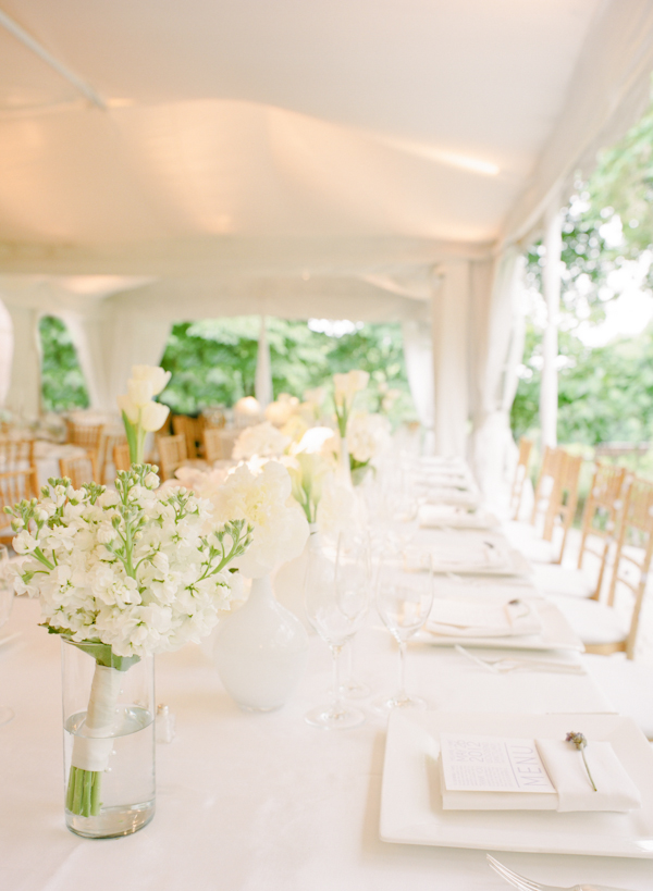 Crisp And Clean White Wedding