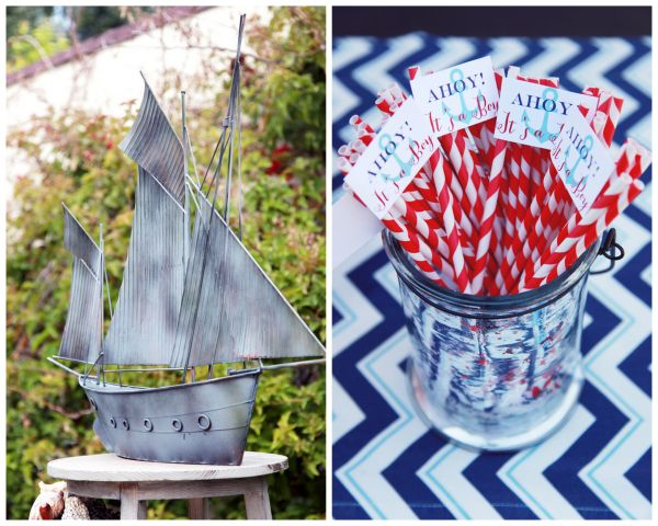 Delightful Nautical Theme Baby Shower Girl Nautical Baby Shower. Ahoy ...
