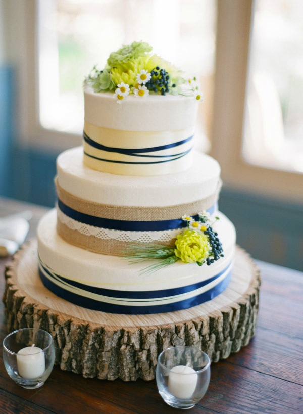 wedding cakes navy blue and yellow inspired by this wedding at pippin hill 25069