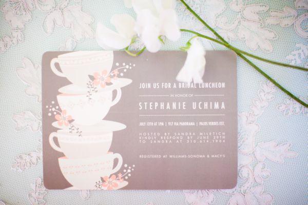 Vintage Tea Party Wedding Invitations: Pink Vintage Tea Party Bridal Shower By Chris & Kristen