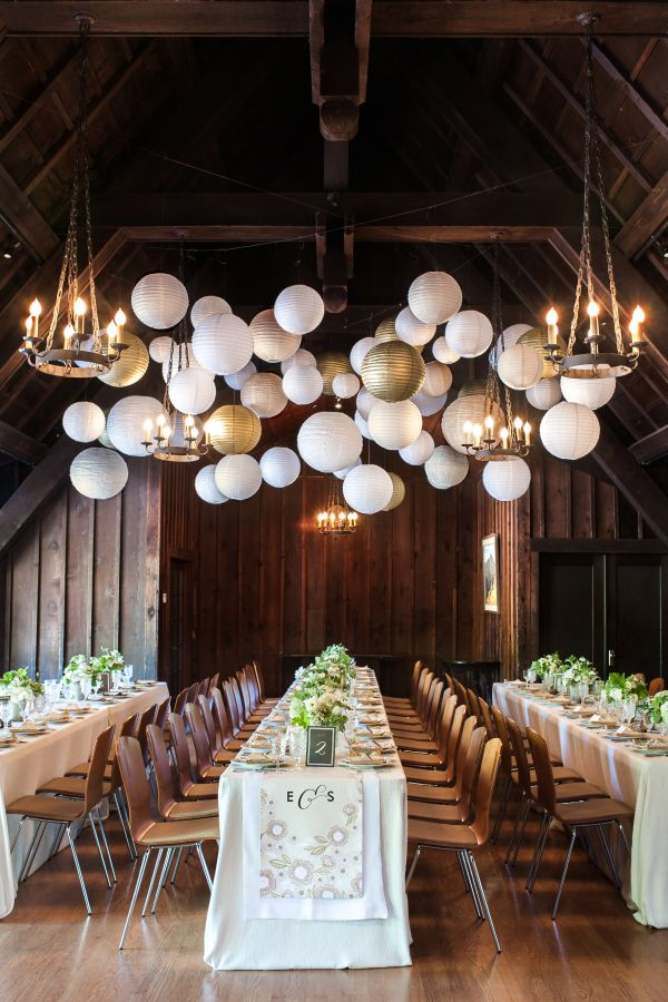 Inspired by minted 39 s new wedding reception decor packages for Wedding venue decoration ideas pictures
