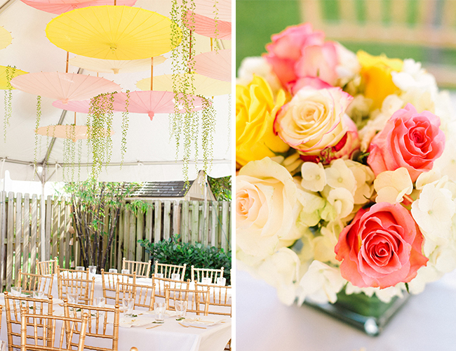 pink and yellow garden baby shower