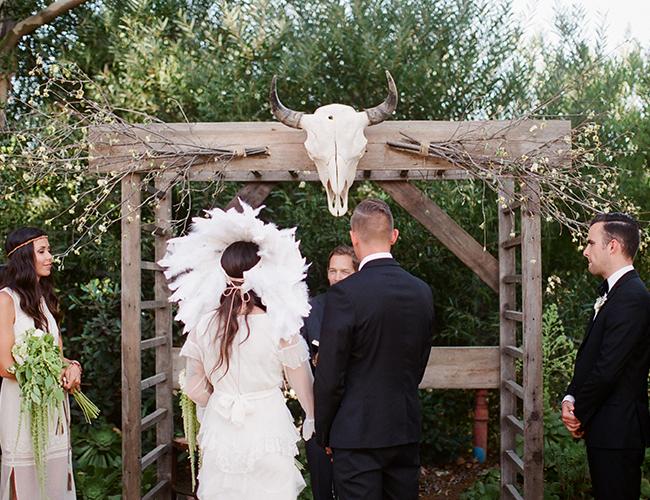 Outdoor Bohemian Wedding by Mary Rosenbaum