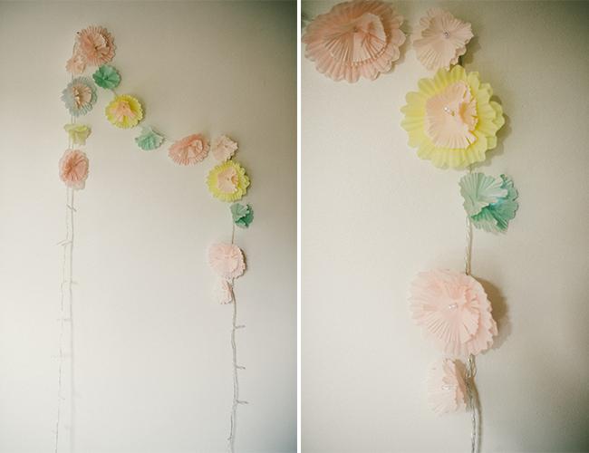 DIY Flower Garland Lights