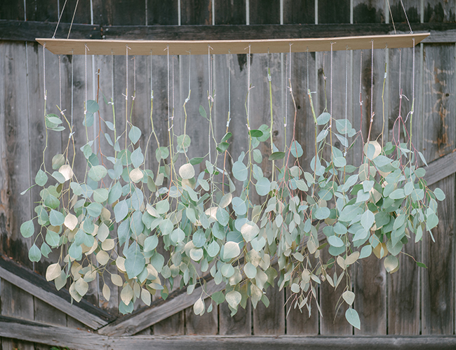 DIY Eucalyptus Chandelier From Gather Events Inspired By