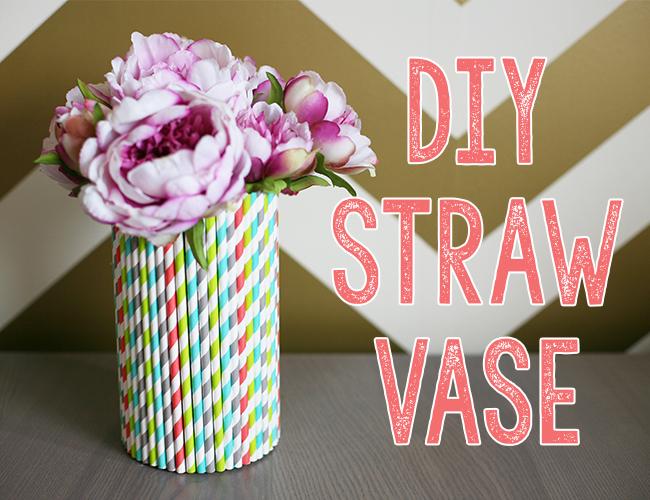 Straw Vase DIY