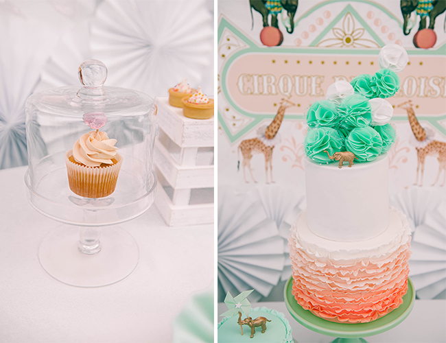 Vintage Peach and Mint Circus Party