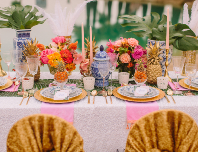 Tropical Fruit Platter For A Beach Wedding: Caribbean Boho Wedding Inspiration
