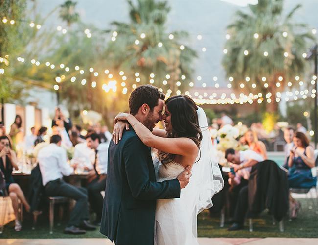 Indoor Vs Outdoor Weddings: Mediterranean Palm Springs Wedding