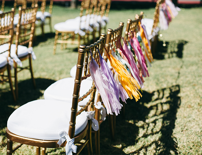 Orange & Pink Palm Springs Wedding