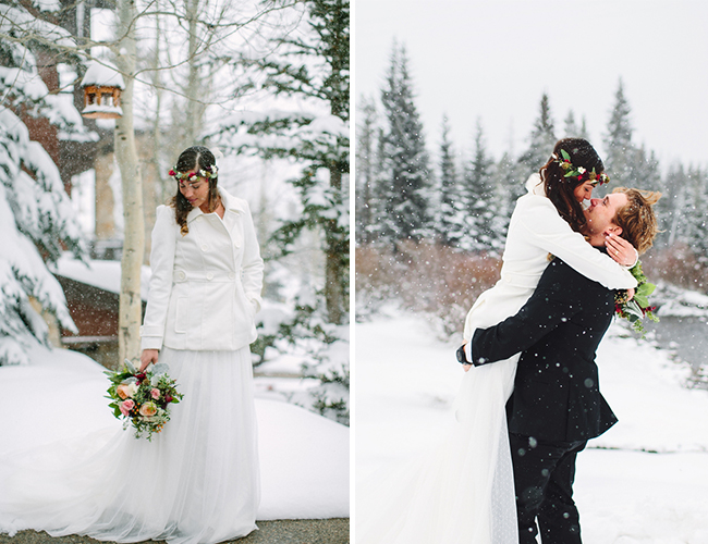 Snowy Winter Cabin Wedding Inspired By This