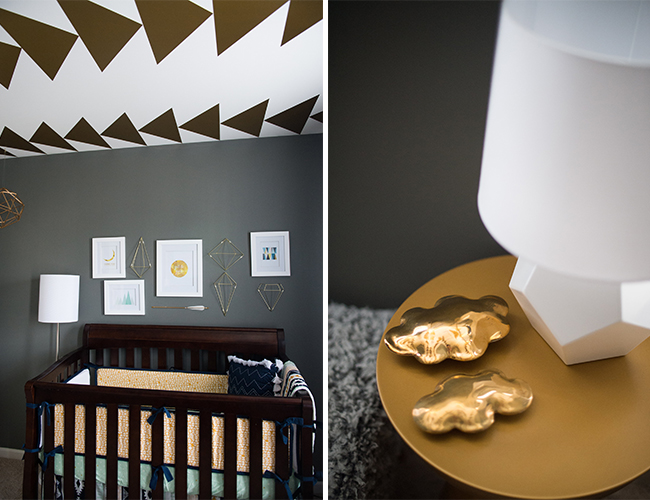 Blue And Gold Nursery Inspired By This