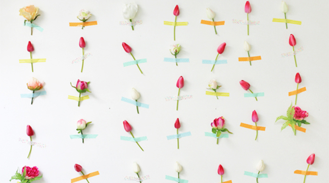 DIY Flower Wall Decor - Inspired By This