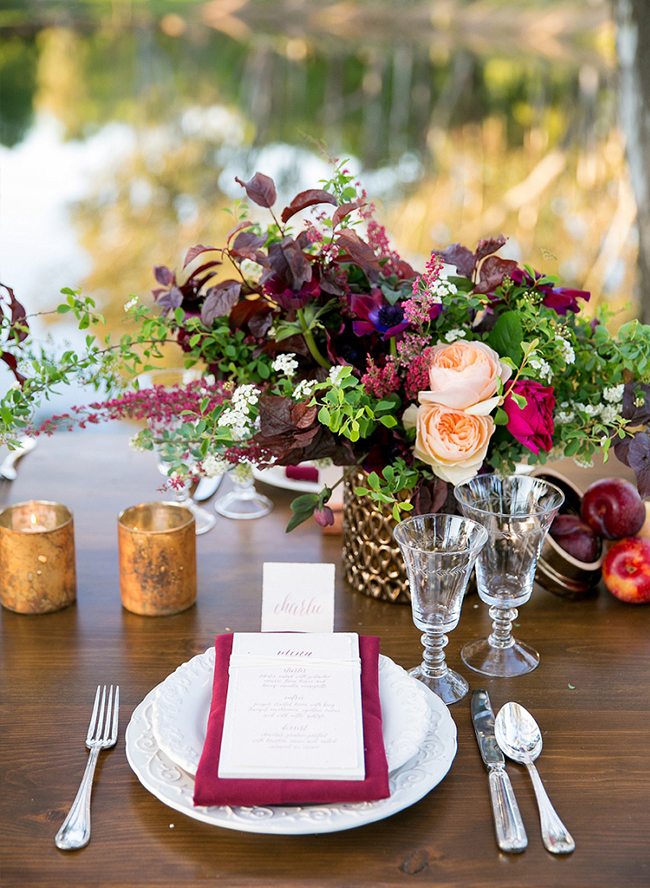 Burgundy Wine Country Wedding - Inspired By This