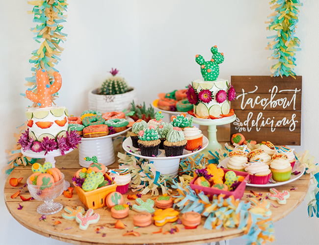 Vibrant Pink & Green Fiesta Birthday Party - Inspired By This