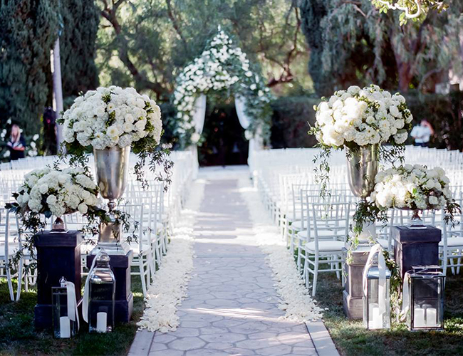 All White Indoor Wedding Ceremony Site: 16 All White Wedding Ideas