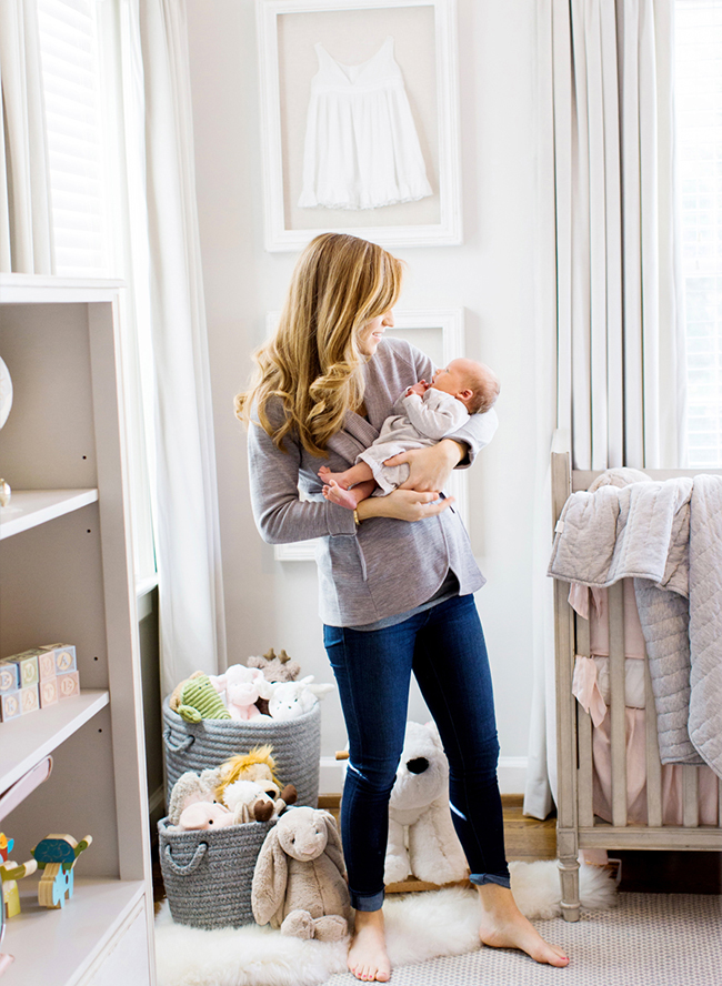 Blush And Grey Nursery Inspired By This