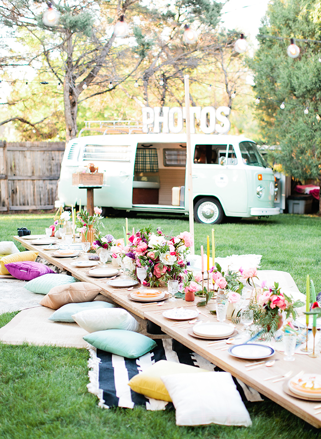 Bohemian Backyard Party : Bright Boho 30th Birthday Party ? Inspired by This