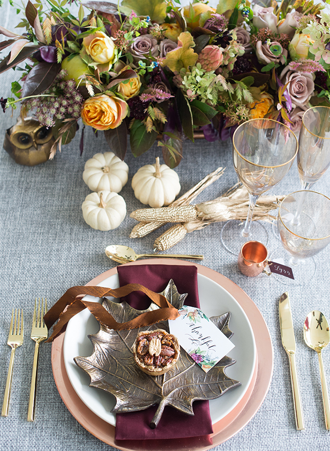 Copper & Jewel Tone Thanksgiving Party