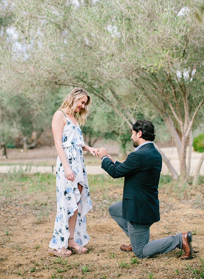 Surprise photo shoot proposal at rancho valencia for Surprise engagement photo shoot
