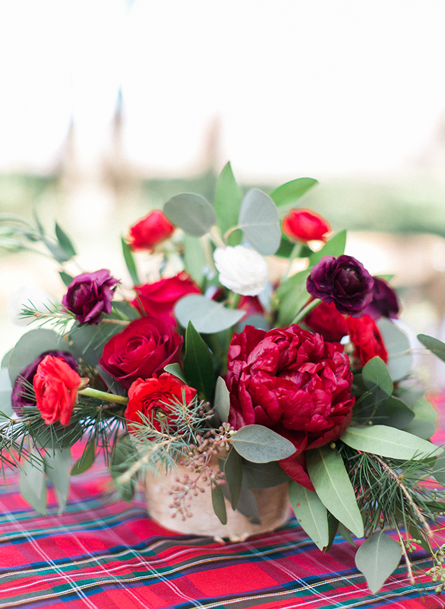 Outdoor Red Amp Plum Christmas Dinner Party Inspired By This