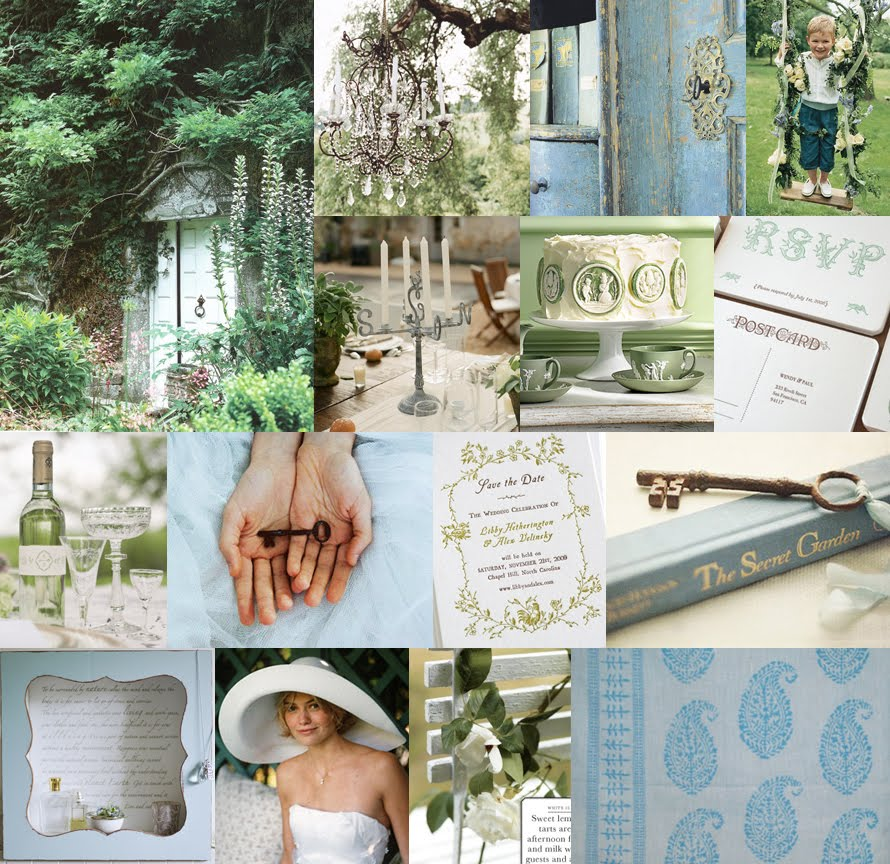 English Garden Wedding Ideas: Ashley's Vintage Garden And Blueberry Bridal Shower