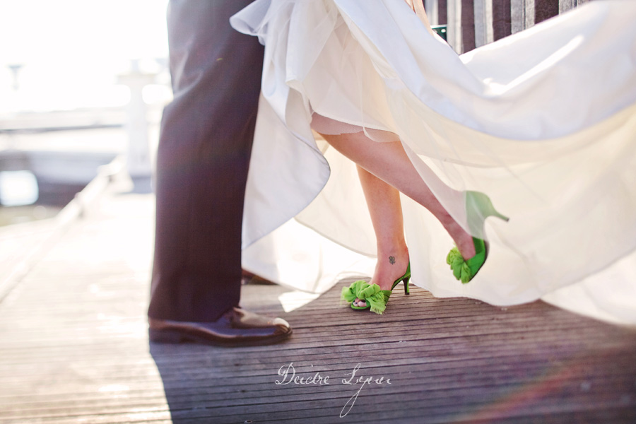 When I was planning my wedding I was on the lookout for the perfect pair of green wedding shoes!